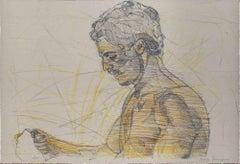 Male Figure - Original Lithograph by Lorenzo Tornabuoni - 20th Century