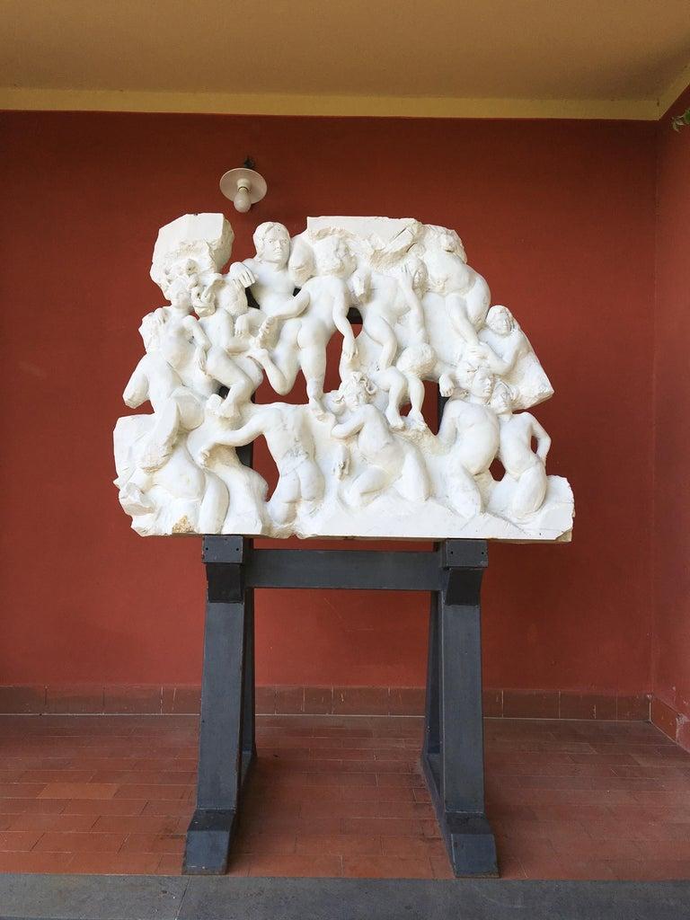Danza ( Dance ) - hand carved figurative Carrara marble sculpture For Sale 3
