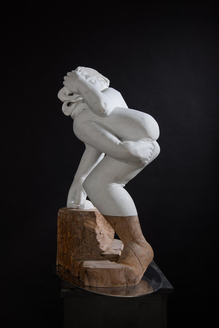 Donna - Marble / Wood Sculpture ( 30