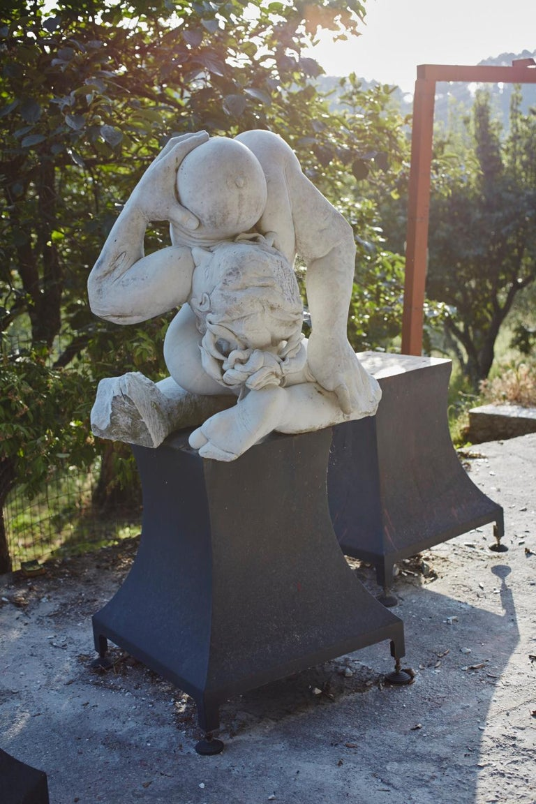 Madre Terra - hand carved figurative Carrara marble sculpture For Sale 5