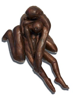 "Pieta III - Bronze Sculpture ( 20"" x 14"" x 9"" )"