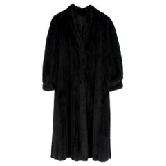 Loretta Furs Black Fur Long CoatSIZE S