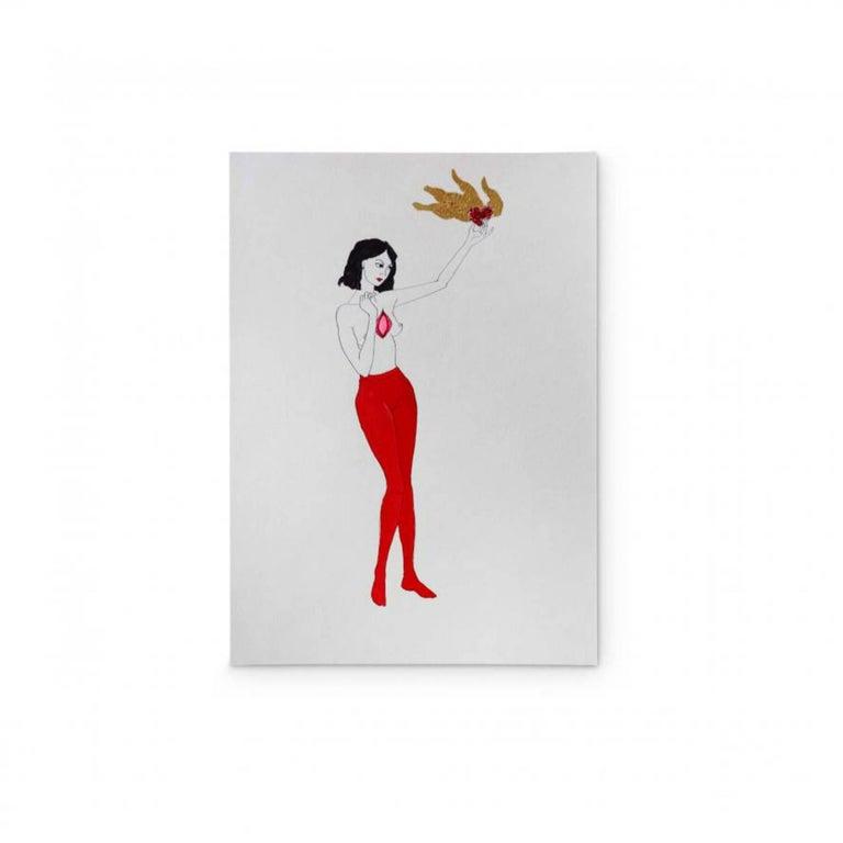 LORETTA HIRSCH Nude Painting - BURNING DESIRE