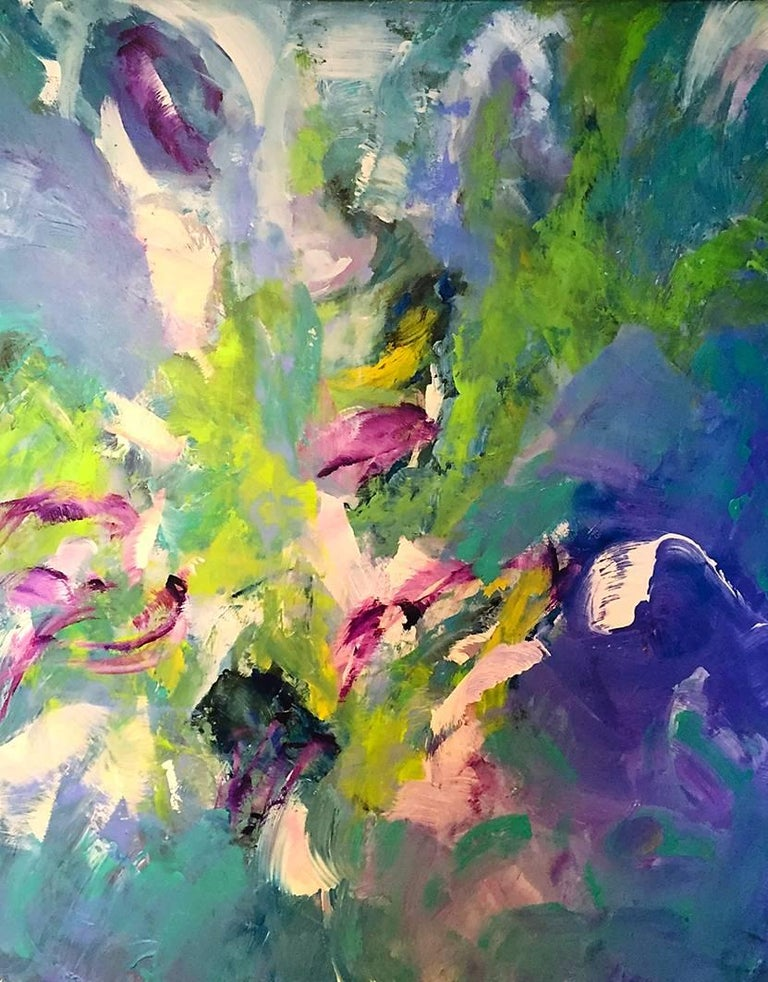 Lori Dubois Abstract Painting - Birds of a Feather