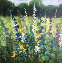 "Lori Eubanks, ""Where You Lead"", Flower Garden Landscape Oil on Canvas, 2019"