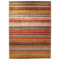 Lori Hand Knotted Area Rug in Multi New Zealand Wool