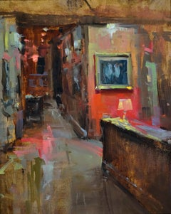 Walk of Fame, American Impressionism,  Oil Painters of America Interior Scene