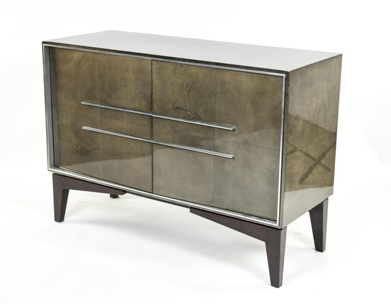 Lorin Marsh Designs Tuxedo Two-Door Commode, Chest, Cabinet or Nightstand For Sale 8