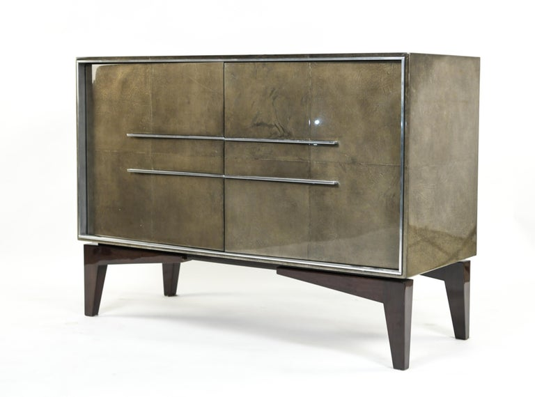 Lorin Marsh Designs Tuxedo Two-Door Commode, Chest, Cabinet or Nightstand For Sale 10