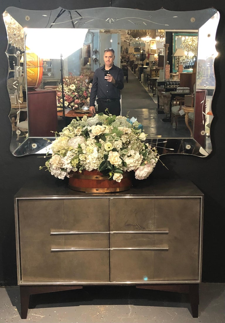 Lorin Marsh Designs Tuxedo Two-Door Commode, Chest, Cabinet or Nightstand In Good Condition For Sale In Stamford, CT