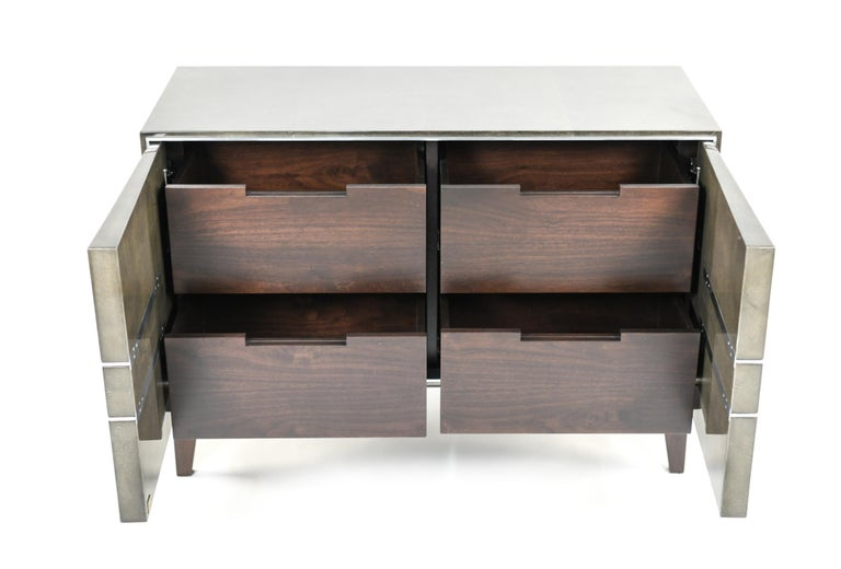 Contemporary Lorin Marsh Designs Tuxedo Two-Door Commode, Chest, Cabinet or Nightstand For Sale