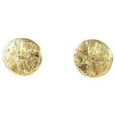 Loris Azzaro Gold Metal Clip On Costume Jawelry Earings 1980s