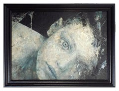 DOMANI - Italian Oil and enamel on board painting, Loris Lombardo