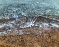 Backwash - contemporary seascape waves coastal acrylic painting