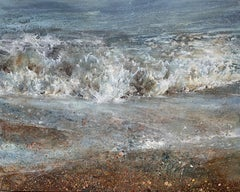 Forewash - contemporary seascape waves water ocean sea coast acrylic painting