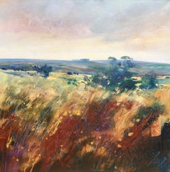 Friends Clump, Ashdown Forest - abstract landscape acrylic painting