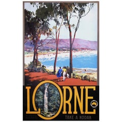 Vintage Poster Original Lorne Australia James Northfield Poster Travel Art
