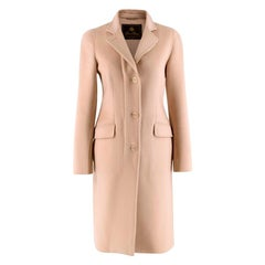 Loro Piana Beige Cashmere Double Face Coat - Size US 2