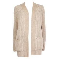 LORO PIANA beige cashmere & silk Open Cardigan Sweater 38 XS