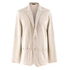Loro Piana Beige Knit Cardigan SIZE IT 52