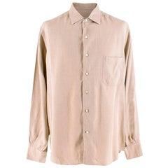 Loro Piana Beige Silk Shirt XL