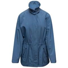 Loro Piana Blue Collared Cotton Jacket