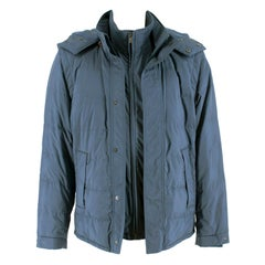 Loro Piana Blue Storm System Goose Down Blue Jacket- Size Small