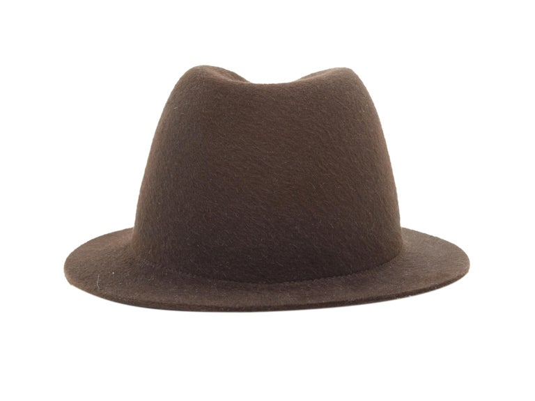 Loro Piana Brown Mink Felt Hat In Good Condition For Sale In New York, NY