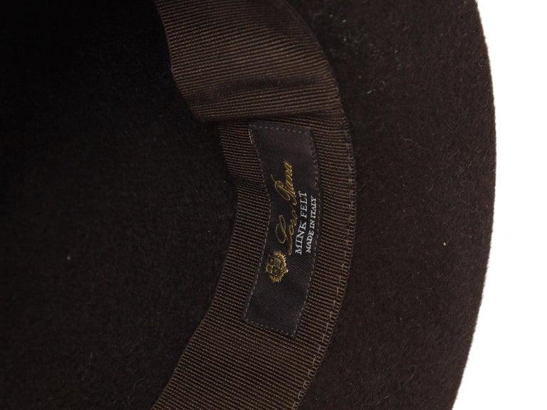 Women's Loro Piana Brown Mink Felt Hat For Sale