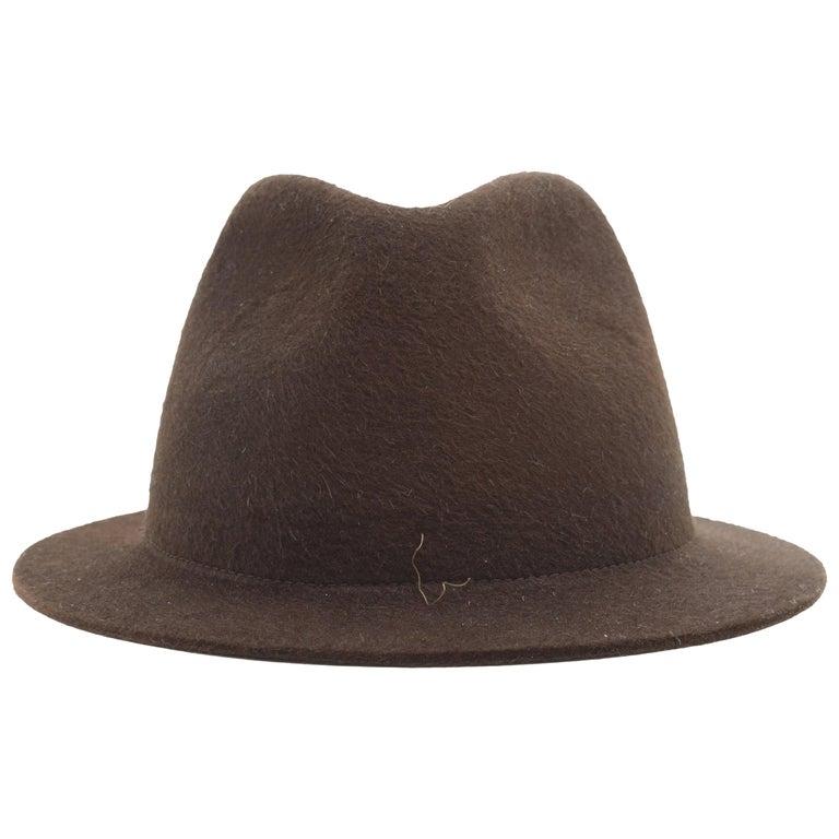 Loro Piana Brown Mink Felt Hat For Sale