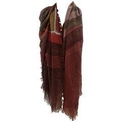 Loro Piana cachemire multicoloured scarf - foulard
