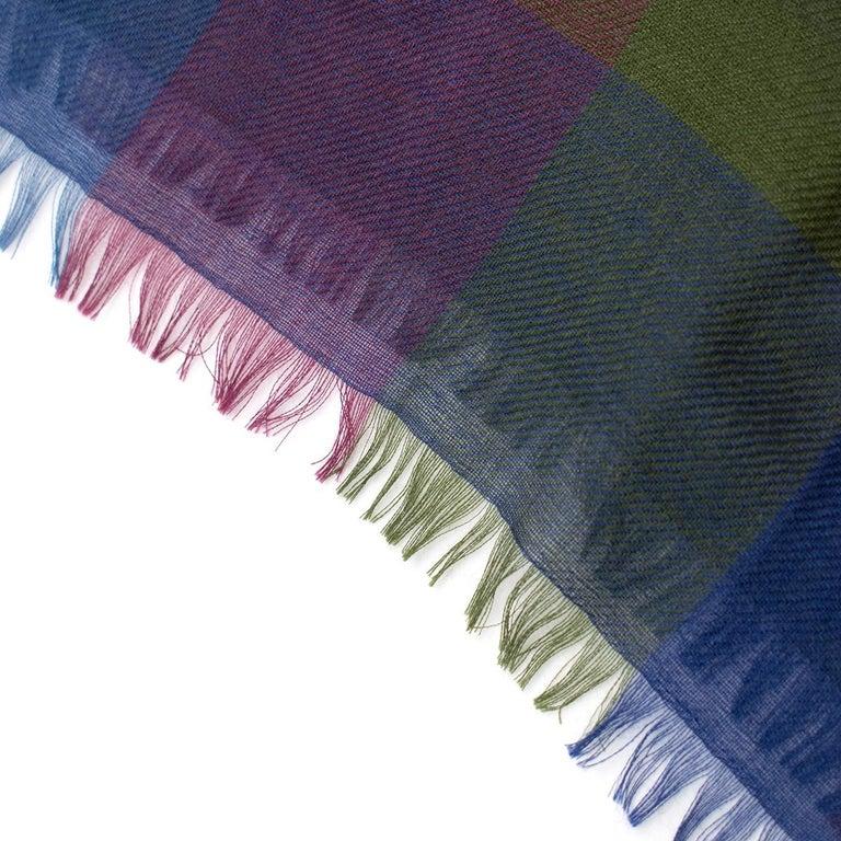 Women's or Men's Loro Piana Cashmere & Silk-Blend Checked Shawl For Sale