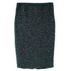 Loro Piana Dark Emerald Embellished Velvet Skirt US 10