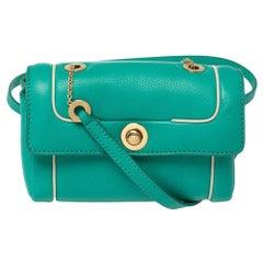 Loro Piana Green Leather Crossbody Bag