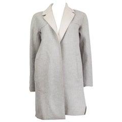 LORO PIANA grey & beige cashmere Open Coat Jacket 36 XXS