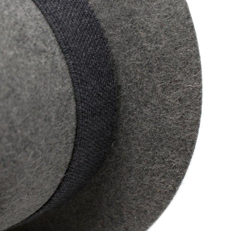 Loro Piana Grey Cashmere & Hare Felt Hat 6
