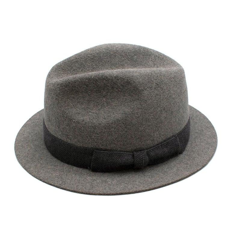 Loro Piana Grey Cashmere & Hare Felt Hat 2