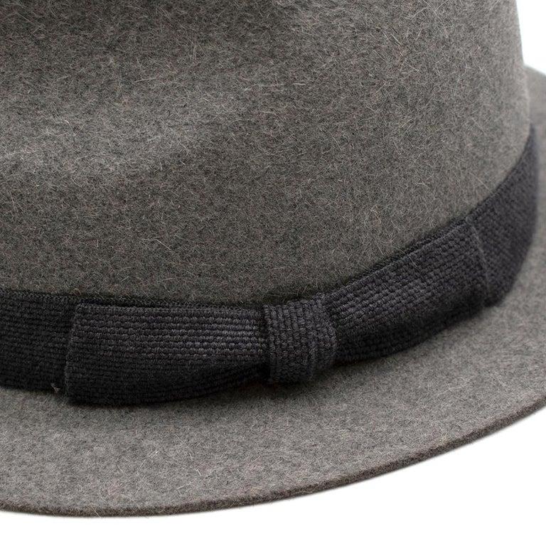 Loro Piana Grey Cashmere & Hare Felt Hat 3