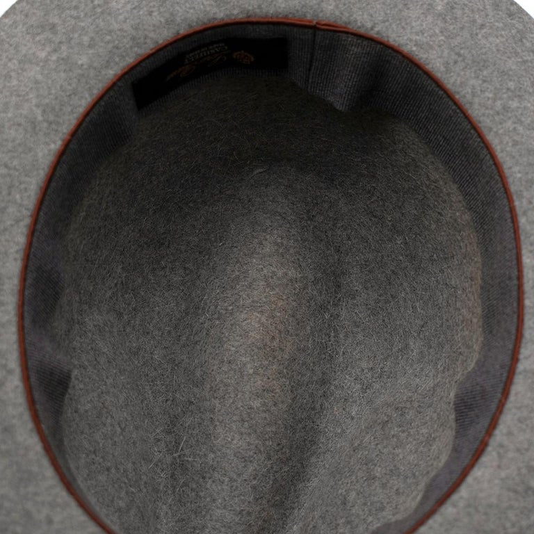 Loro Piana Grey Cashmere & Hare Felt Hat 4