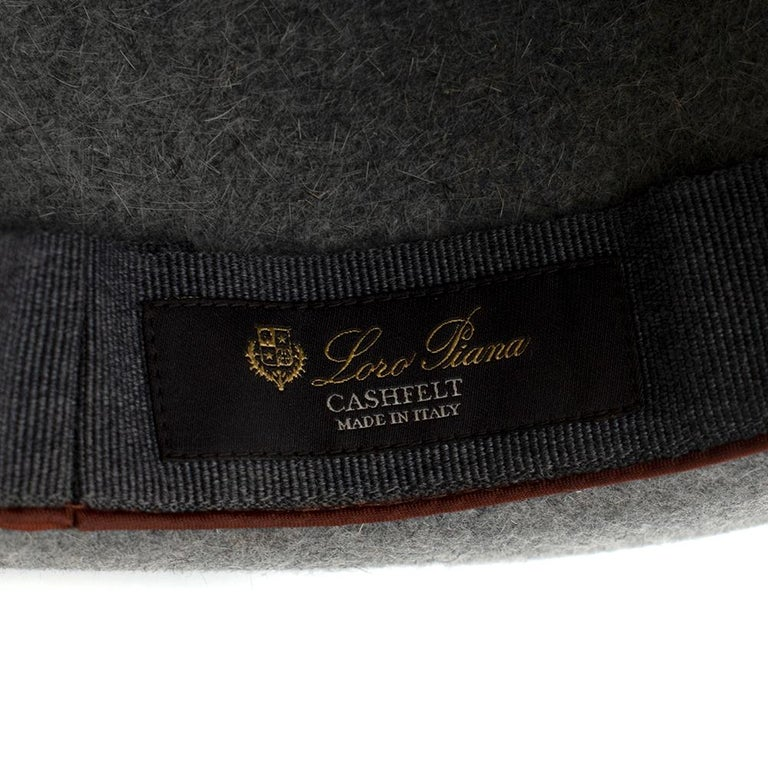 Loro Piana Grey Cashmere & Hare Felt Hat 5
