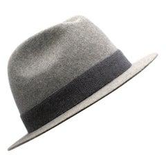 Loro Piana Grey Cashmere & Hare Felt Hat