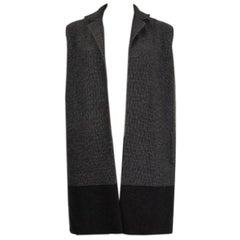 LORO PIANA grey cashmere Open Vest Jacket S