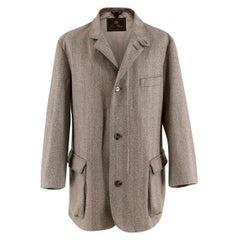 Loro Piana Herringbone-Tweed Outdoor  Storm system Jacket - L