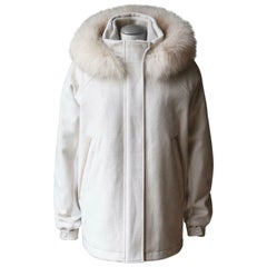 Loro Piana Hooded Fox Fur Trimmed Cashmere Jacket