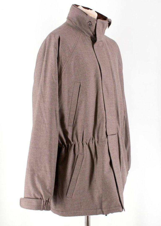 Brown Loro Piana 'Icer' Sport Jacket XXL For Sale