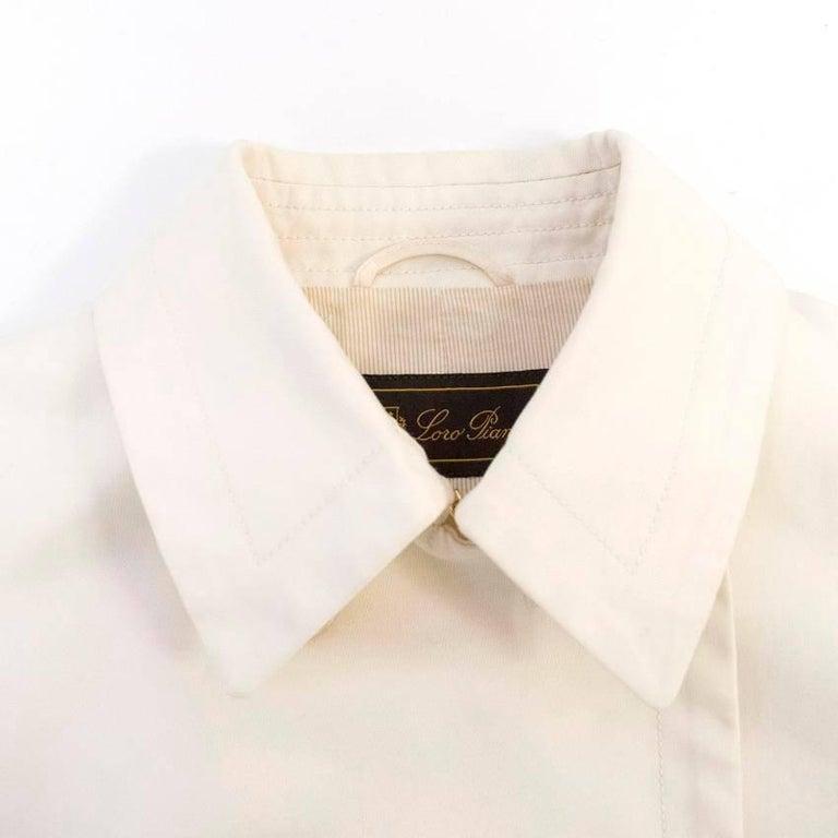 Loro Piana Men Double Breasted Cotton Coat  IT 48 For Sale 1