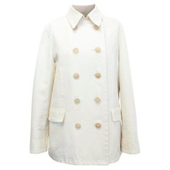 Loro Piana Men Double Breasted Cotton Coat  IT 48