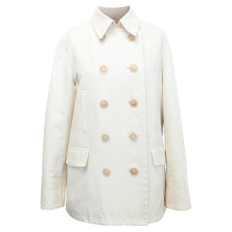 Loro Piana Men Double Breasted Cotton Coat  IT 48 For Sale