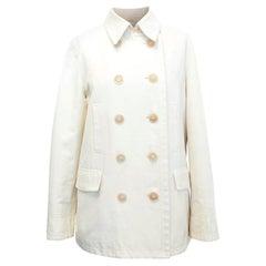 Loro Piana Men Double Breasted Cotton Coat - Size Medium IT 48