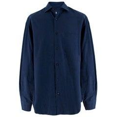 Loro Piana Men's Navy Cotton Shirt XL